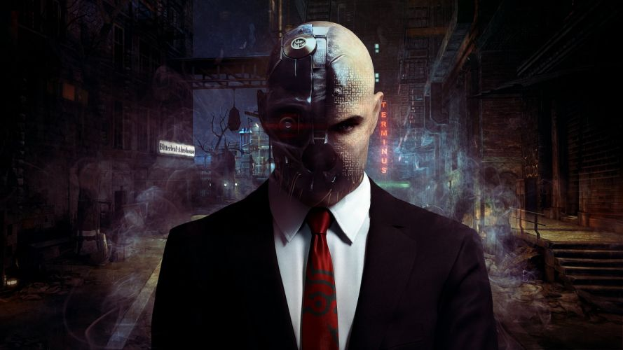HITMAN thriller action assassin crime drama spy stealth sci-fi cyborg wallpaper