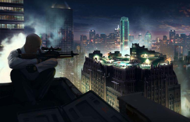 HITMAN thriller action assassin crime drama spy stealth assassins weapon gun pistol xniper city wallpaper