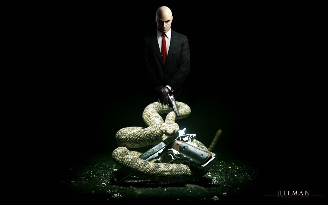 HITMAN thriller action assassin crime drama spy stealth assassins weapon gun pistol snake wallpaper