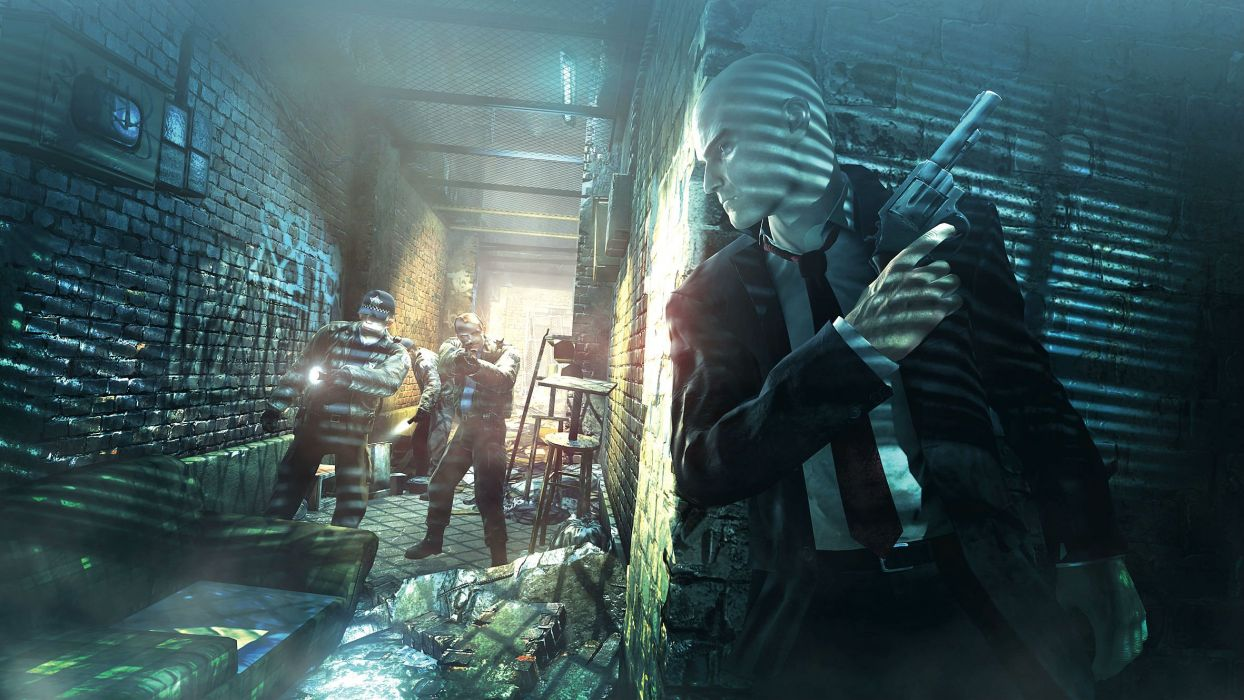 HITMAN thriller action assassin crime drama spy stealth assassins weapon gun pistol wallpaper