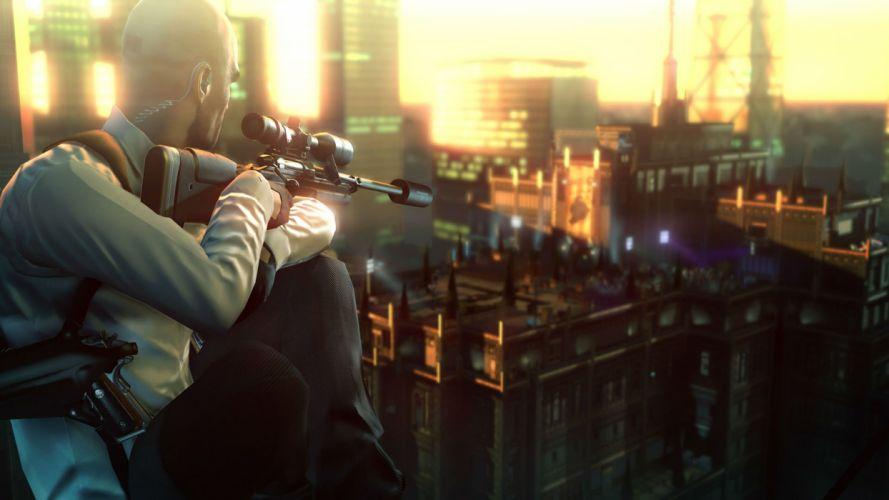 HITMAN thriller action assassin crime drama spy stealth assassins weapon gun sniper wallpaper