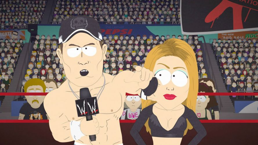 SOUTH PARK animation comedy series sitcom cartoon sadic humor funny 1south-park wwe wrestling wallpaper