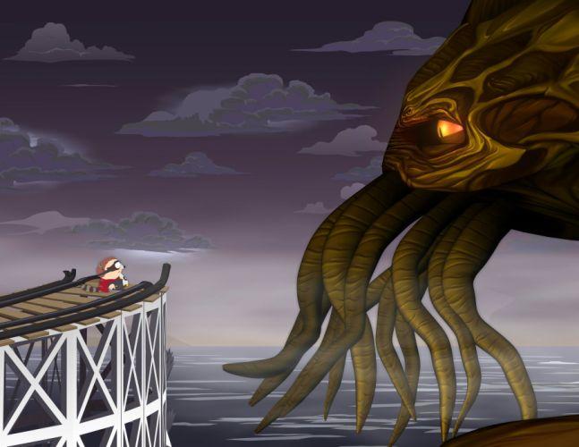 SOUTH PARK animation comedy series sitcom cartoon sadic humor funny 1south-park fantasy monster wallpaper