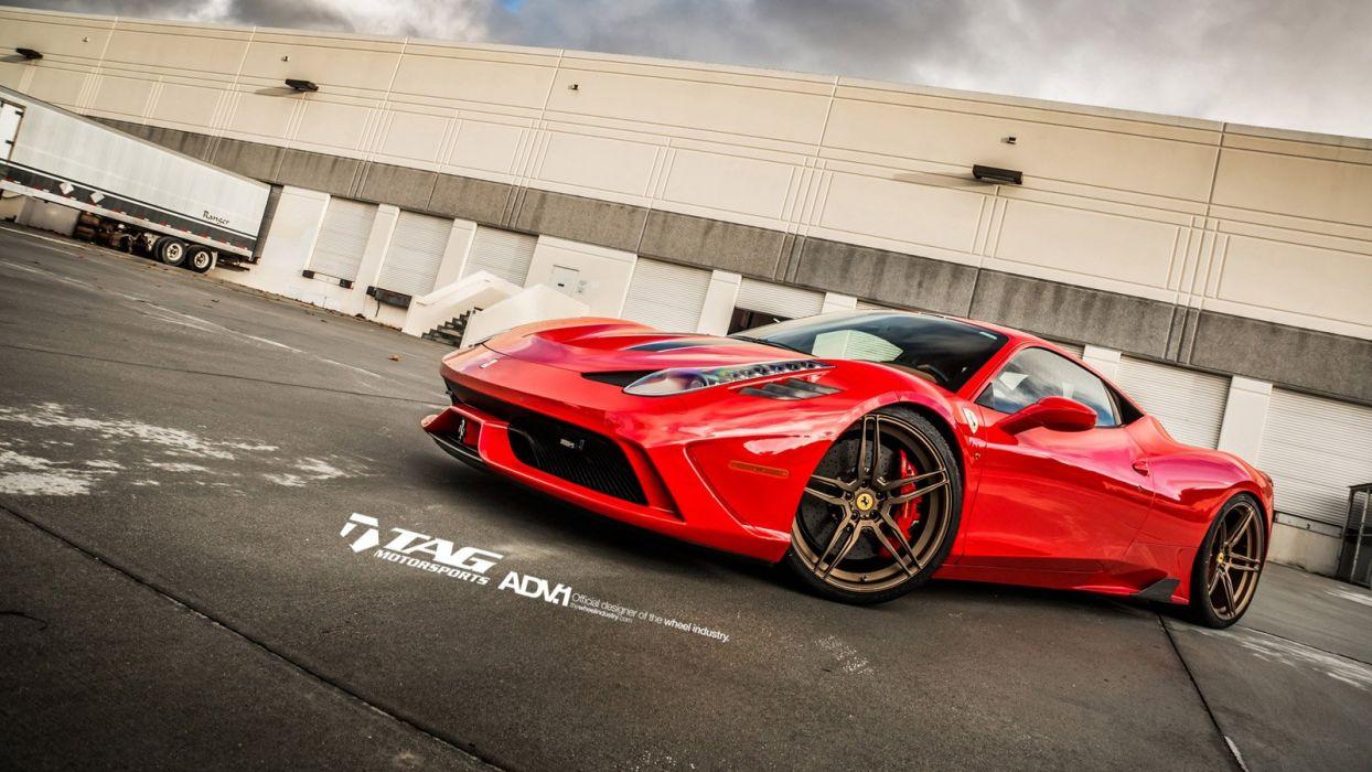 2014 ADV1 FERRARI 458 SPECIALE supercars wheels wallpaper