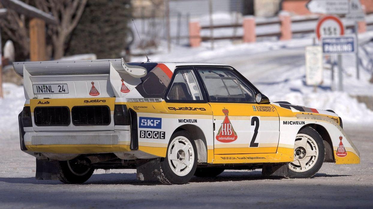 Audi A1 rally group B car vehicle quattro wallpaper