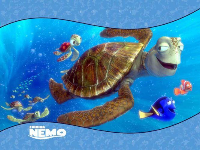 FINDING NEMO animation underwater sea ocean tropical fish adventure family comedy drama disney 1finding-nemo turtle wallpaper