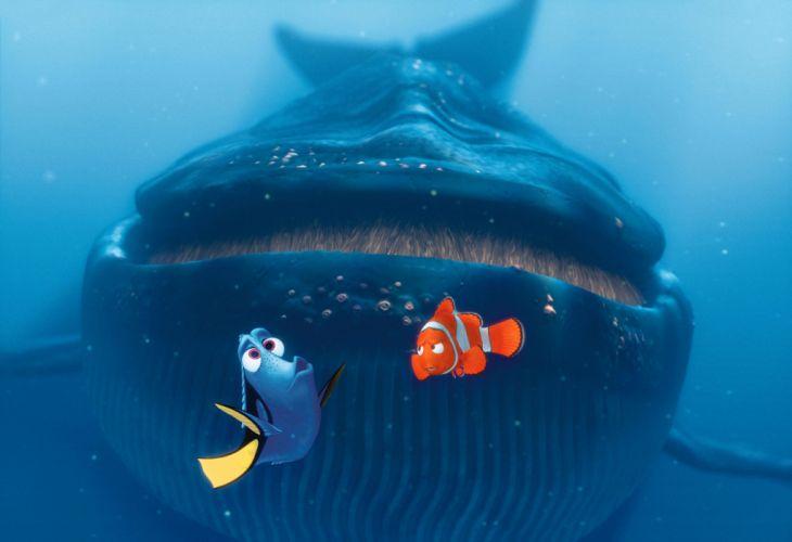 FINDING NEMO animation underwater sea ocean tropical fish adventure family comedy drama disney 1finding-nemo shark whale wallpaper