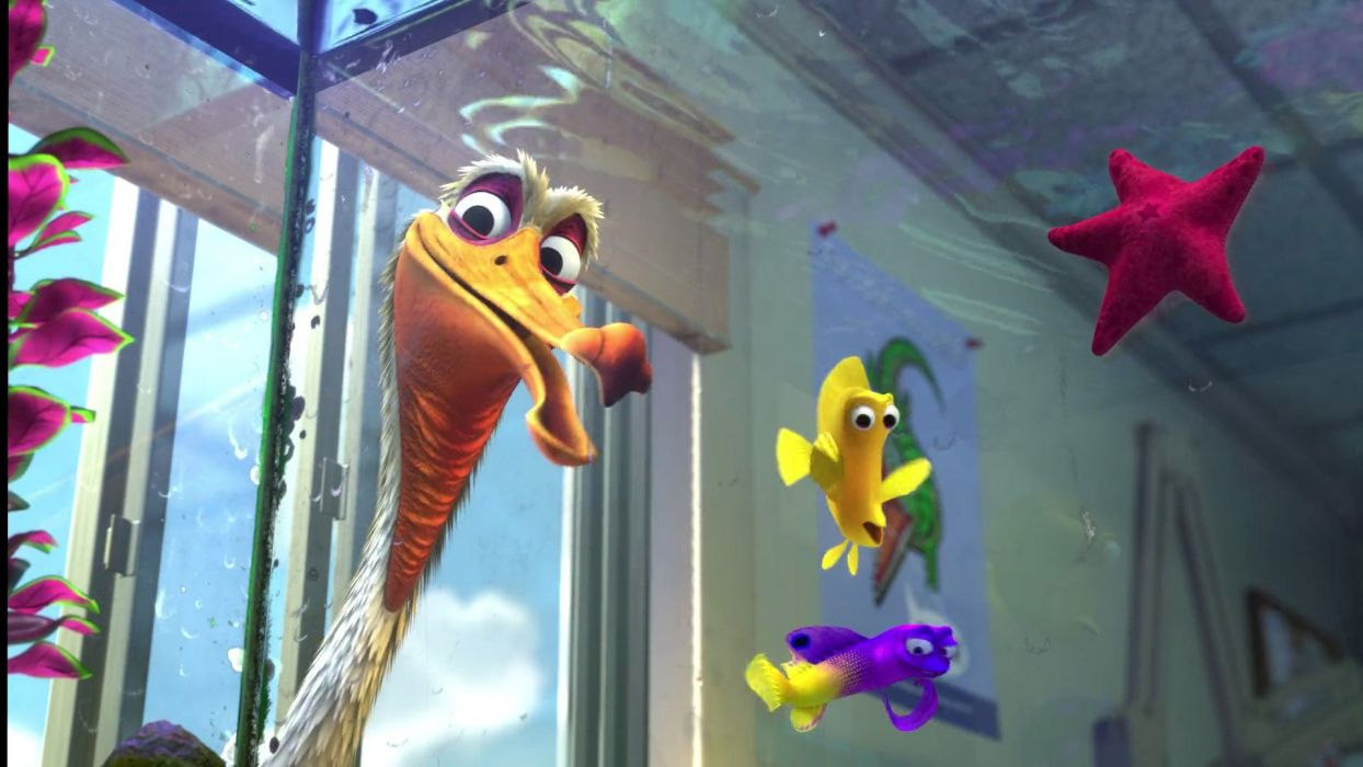 FINDING NEMO animation underwater sea ocean tropical fish adventure family comedy drama disney 1finding-nemo bird pelican wallpaper