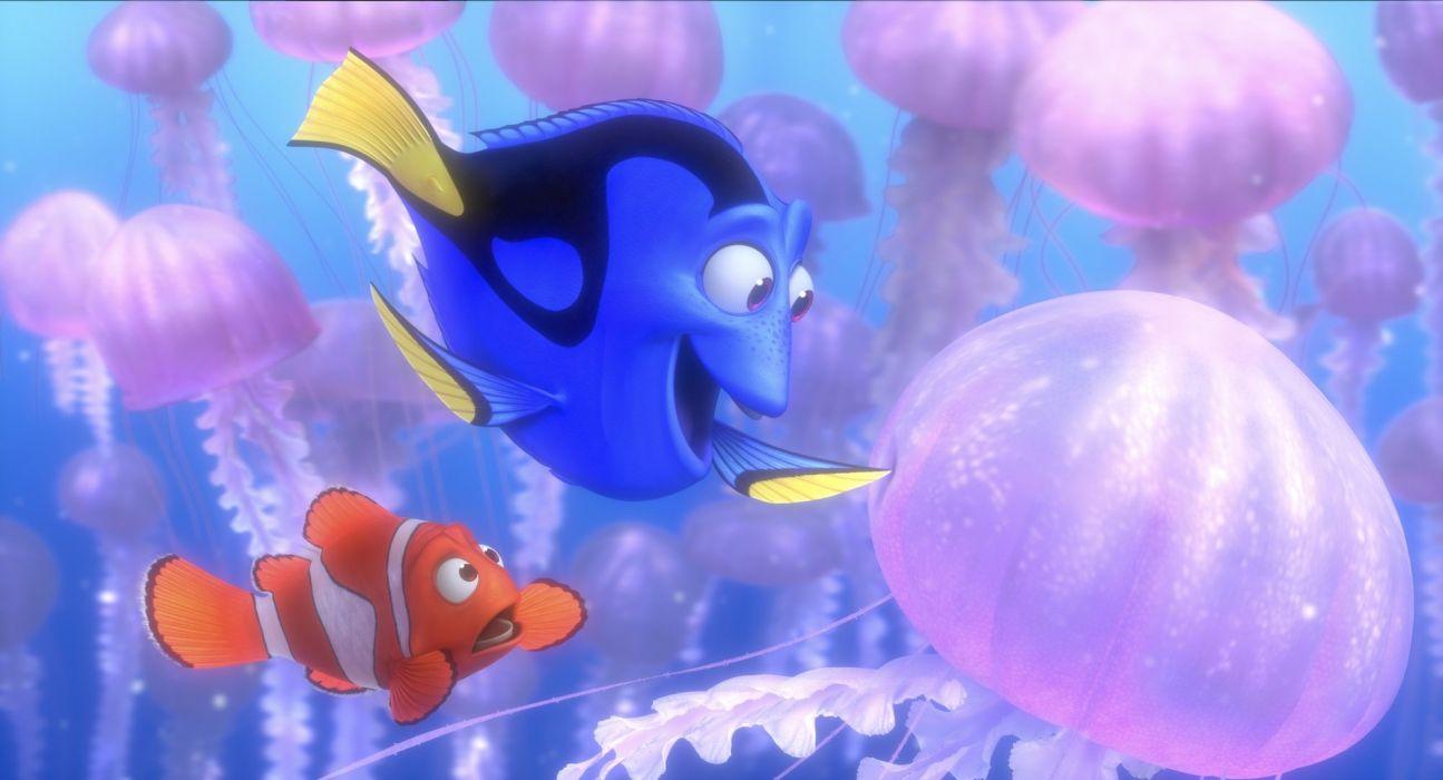 FINDING NEMO animation underwater sea ocean tropical fish adventure family comedy drama disney 1finding-nemo jellyfish wallpaper