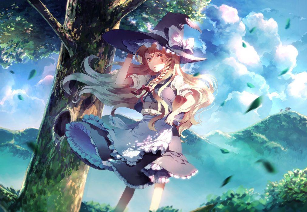 kirisame marisa-sunakumo-tagme-touhou witch anime girl wallpaper