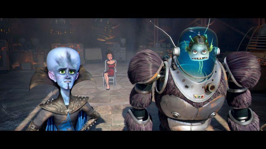 MEGAMIND animation comedy action family superhero alien sci-fi wallpaper