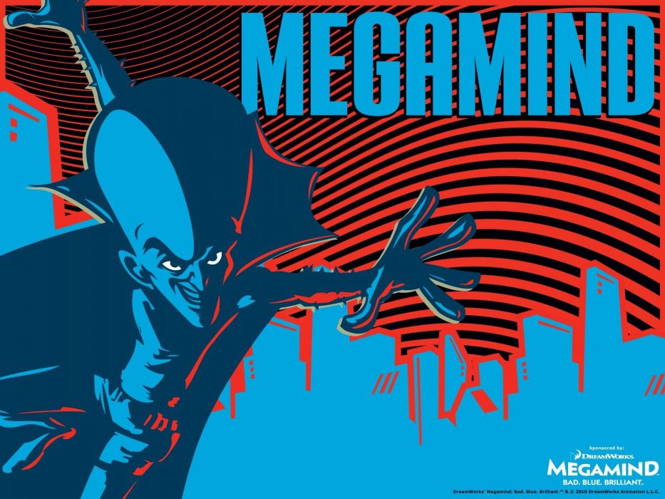 MEGAMIND animation comedy action family superhero alien sci-fi psychedelic wallpaper