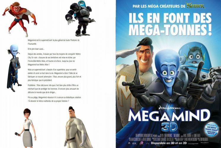 MEGAMIND animation comedy action family superhero alien sci-fi poster wallpaper