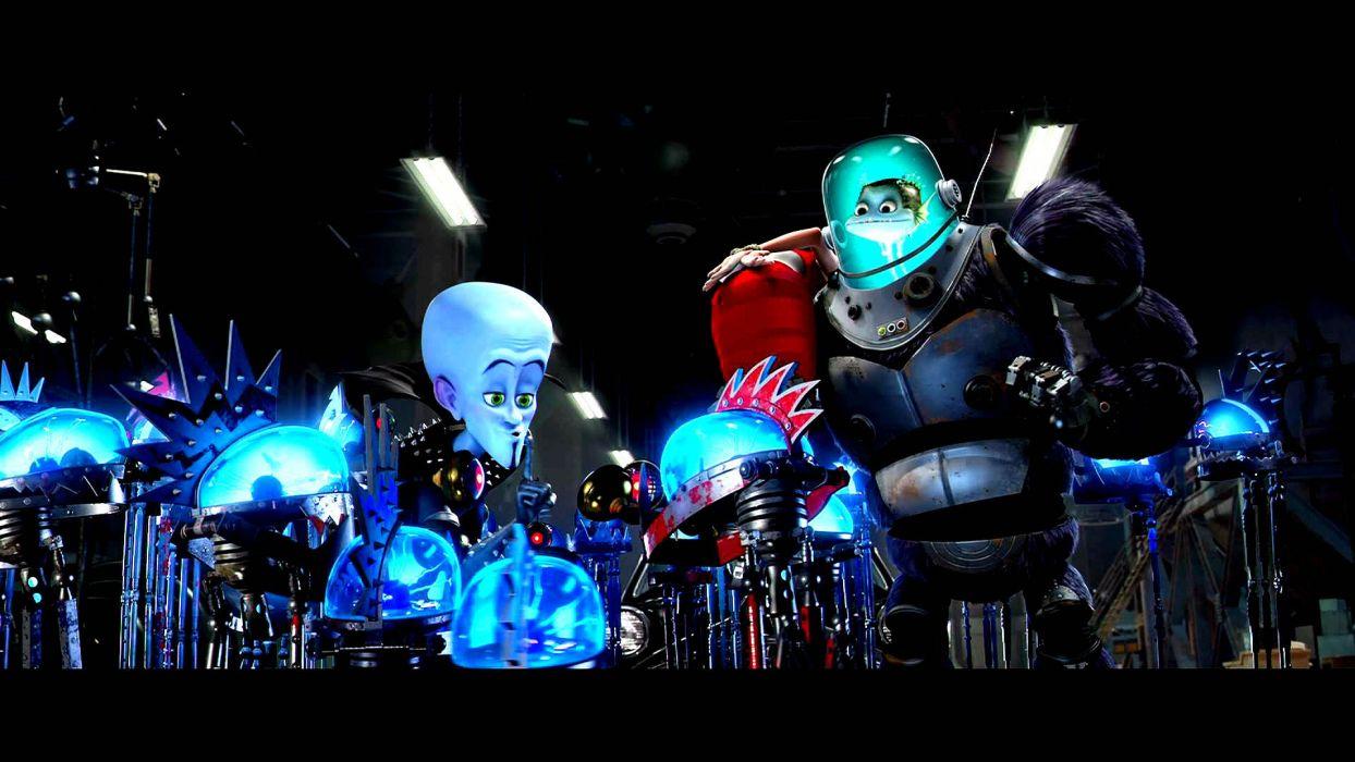 MEGAMIND animation comedy action family superhero alien sci-fi robot wallpaper