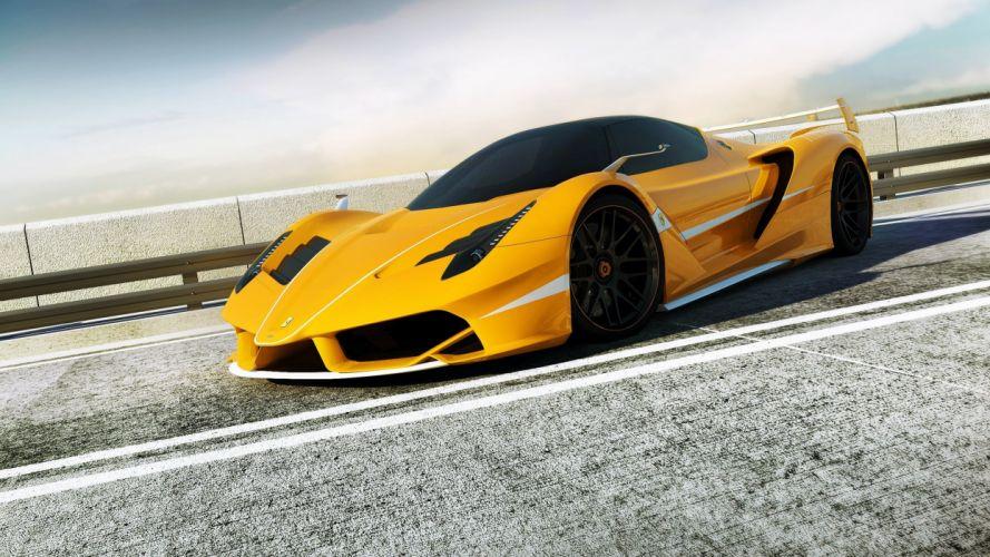 Ferrari LaFerrari in yellow ultra hd wallpaper wallpaper