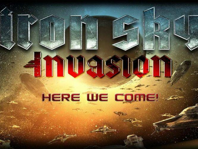 IRON SKY action comedy sci-fi nazi war comics futuristic cgi disney military horror 1ironsky apocalyptic fantasy dark space spaceship poster wallpaper