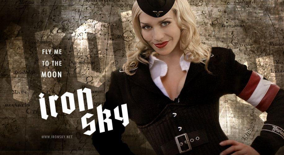 IRON SKY action comedy sci-fi nazi war comics futuristic cgi disney military horror 1ironsky apocalyptic fantasy dark sexy babe blonde wallpaper