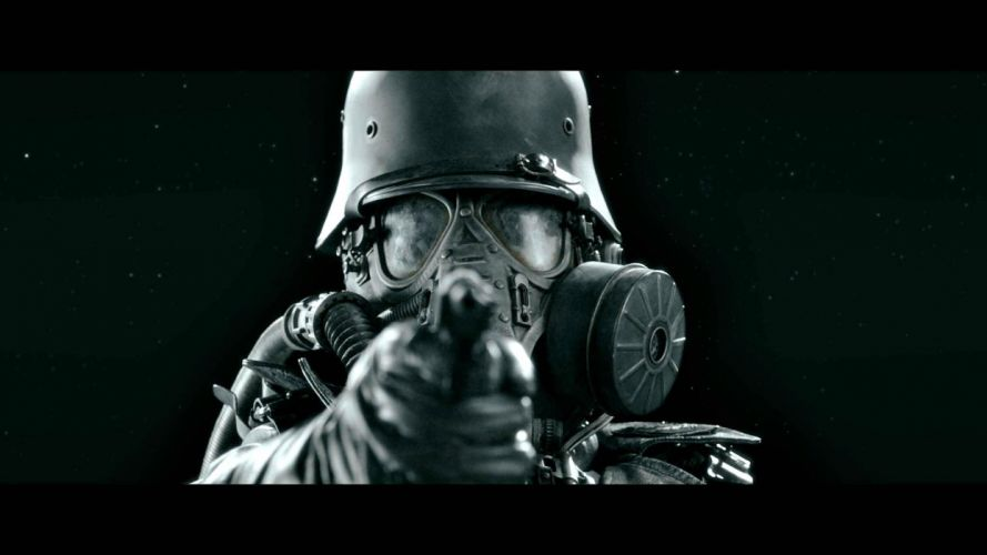 IRON SKY action comedy sci-fi nazi war comics futuristic cgi disney military horror 1ironsky apocalyptic fantasy dark gas mask weapon gun wallpaper