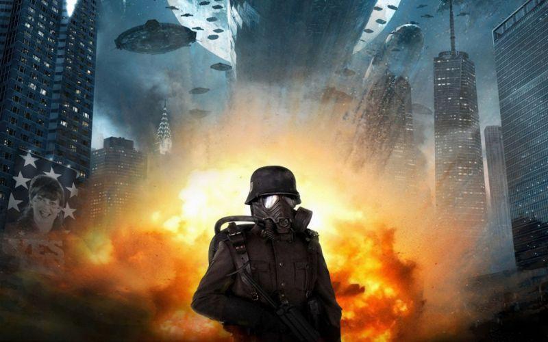 IRON SKY action comedy sci-fi nazi war comics futuristic cgi disney military horror 1ironsky apocalyptic fantasy dark fire gas mask wallpaper