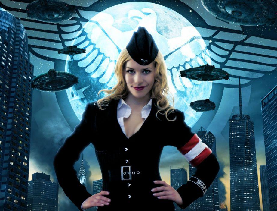 IRON SKY action comedy sci-fi nazi war comics futuristic cgi disney military horror 1ironsky apocalyptic fantasy dark space spaceship sexy babe wallpaper