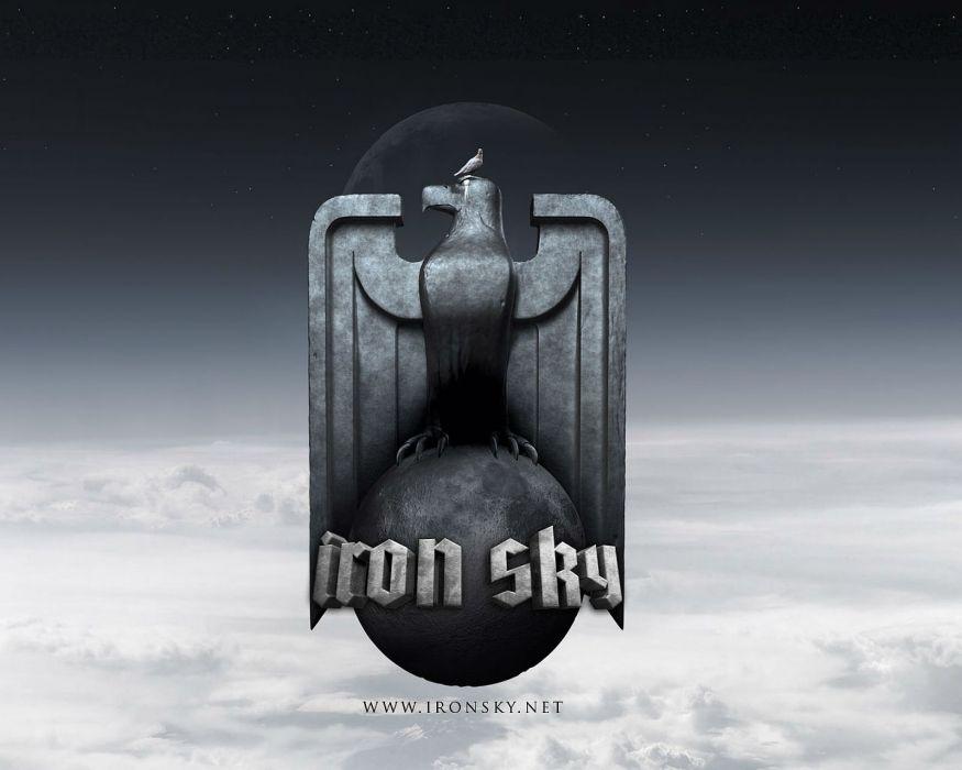 IRON SKY action comedy sci-fi nazi war comics futuristic cgi disney military horror 1ironsky apocalyptic fantasy dark bird pigeon wallpaper