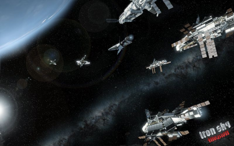 IRON SKY action comedy sci-fi nazi war comics futuristic cgi disney military horror 1ironsky apocalyptic fantasy dark space spaceship planet earth stars wallpaper