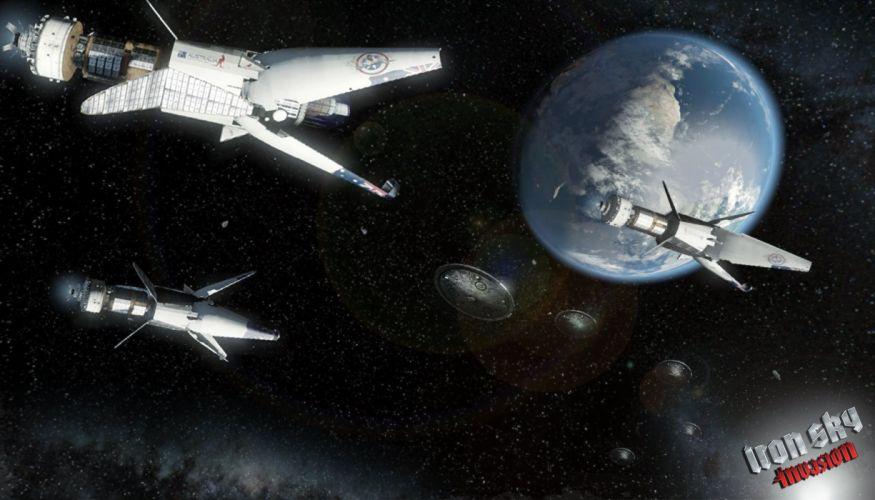 IRON SKY action comedy sci-fi nazi war comics futuristic cgi disney military horror 1ironsky apocalyptic fantasy dark space spaceship planet earth wallpaper