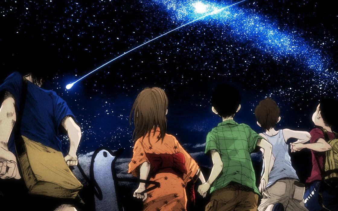 group friend stars sky wallpaper