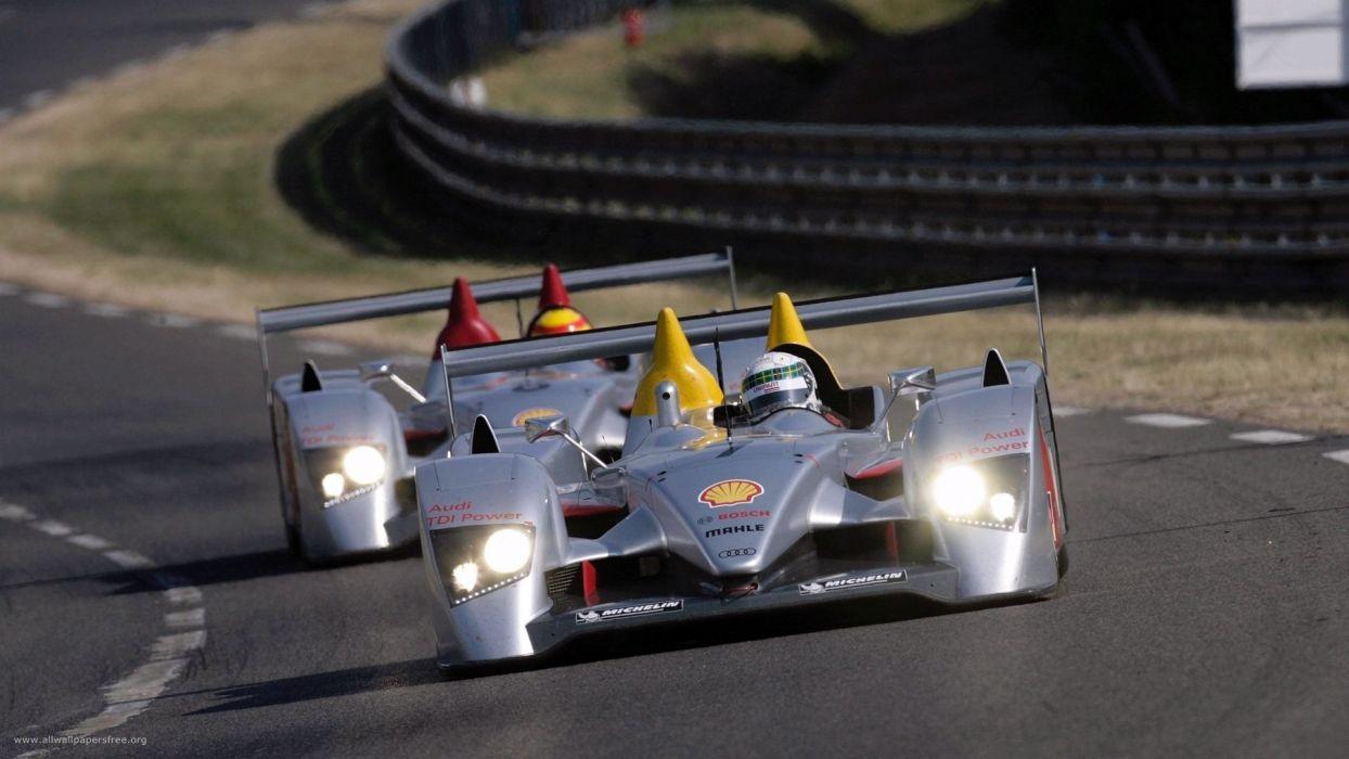 Audi R10 car vehicle sport race LeMans wallpaper