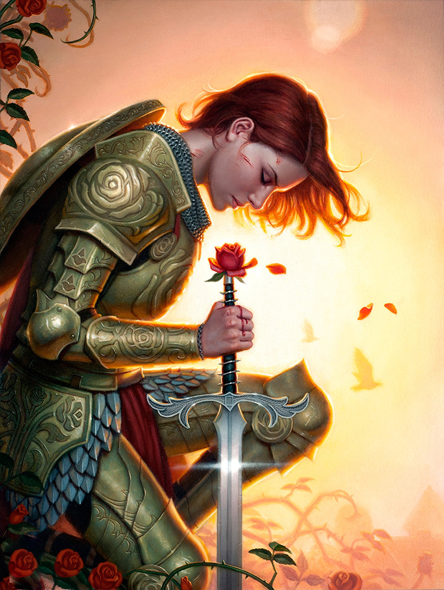 Image result for girl with sword and rose
