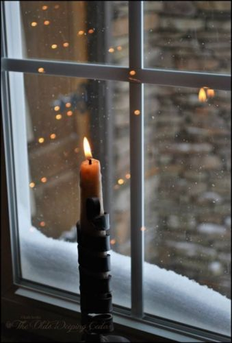 window snow winter candle wallpaper