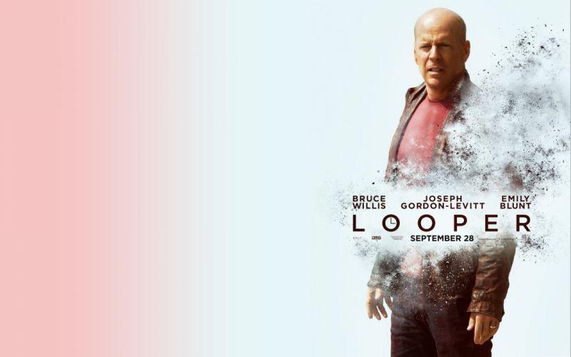 LOOPER sci-fi action thriller crime mafia wallpaper
