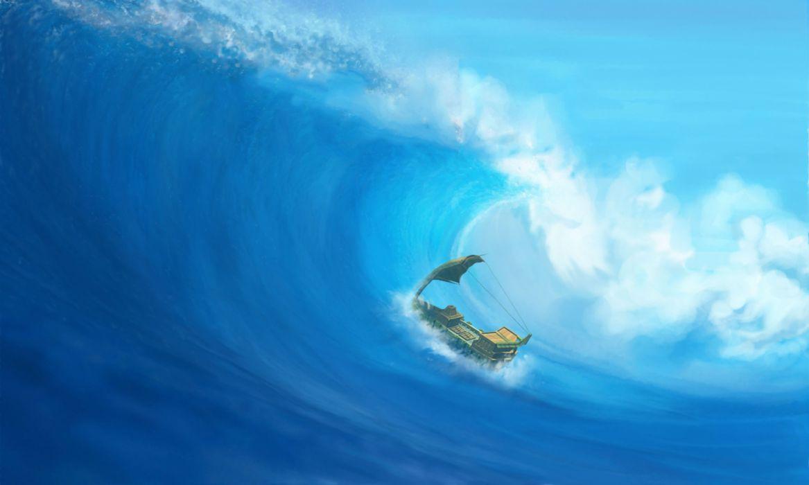 LAST FEDERATION tactical strategy fighting fantasy rpg 1lastfederation sci-fi ocean sea waves wallpaper
