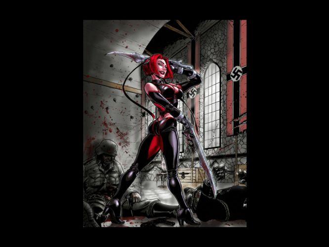 BLOODRAYNE action adventure fantasy vampire dark fighting warrior sexy horror wallpaper