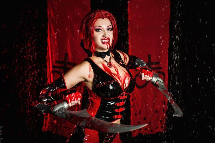 BLOODRAYNE action adventure fantasy vampire dark fighting warrior sexy horror blood cosplay wallpaper