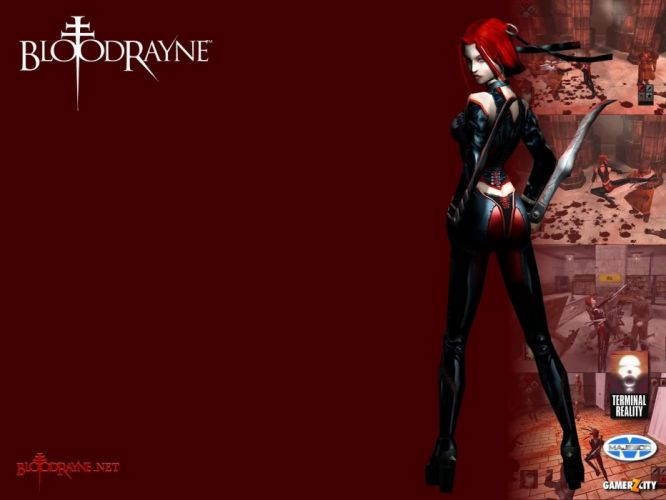BLOODRAYNE action adventure fantasy vampire dark fighting warrior sexy horror blood wallpaper