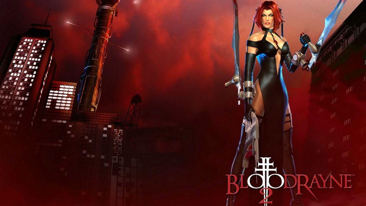 BLOODRAYNE action adventure fantasy vampire dark fighting warrior sexy horror blood wallpaper