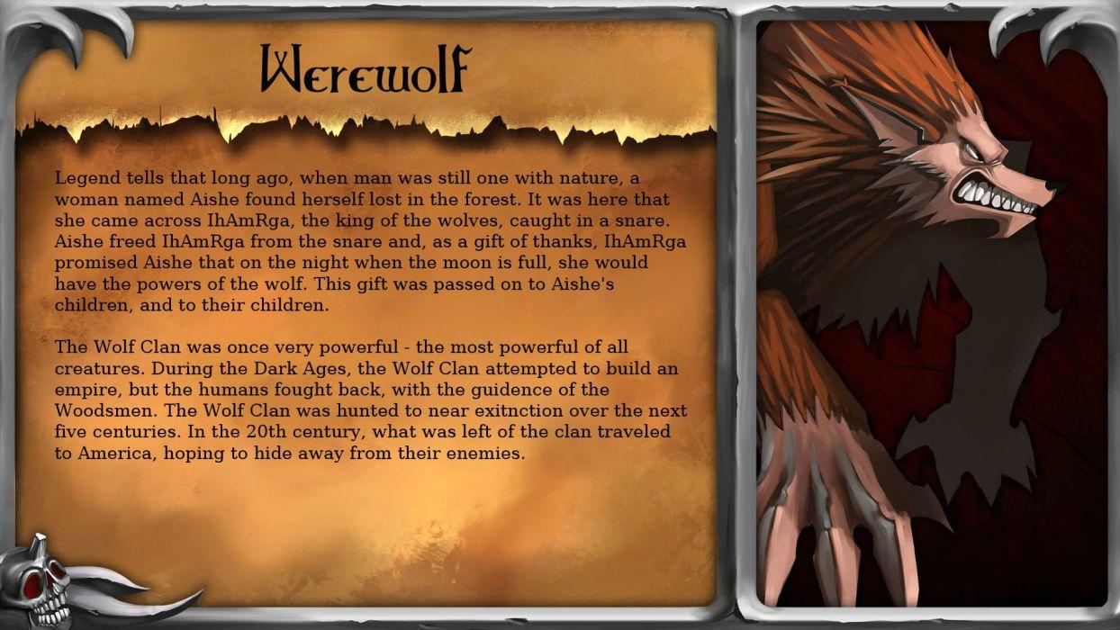 BLOOD OF THE WEREWOLF dark horror monster fighting supernatural platform 1bloodwerewolf wolf wallpaper