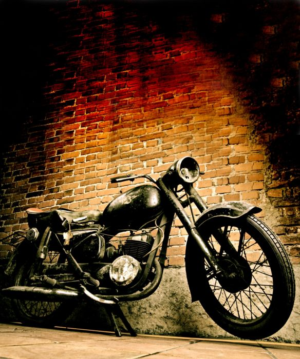 Old motorcycle vertical wallpaper