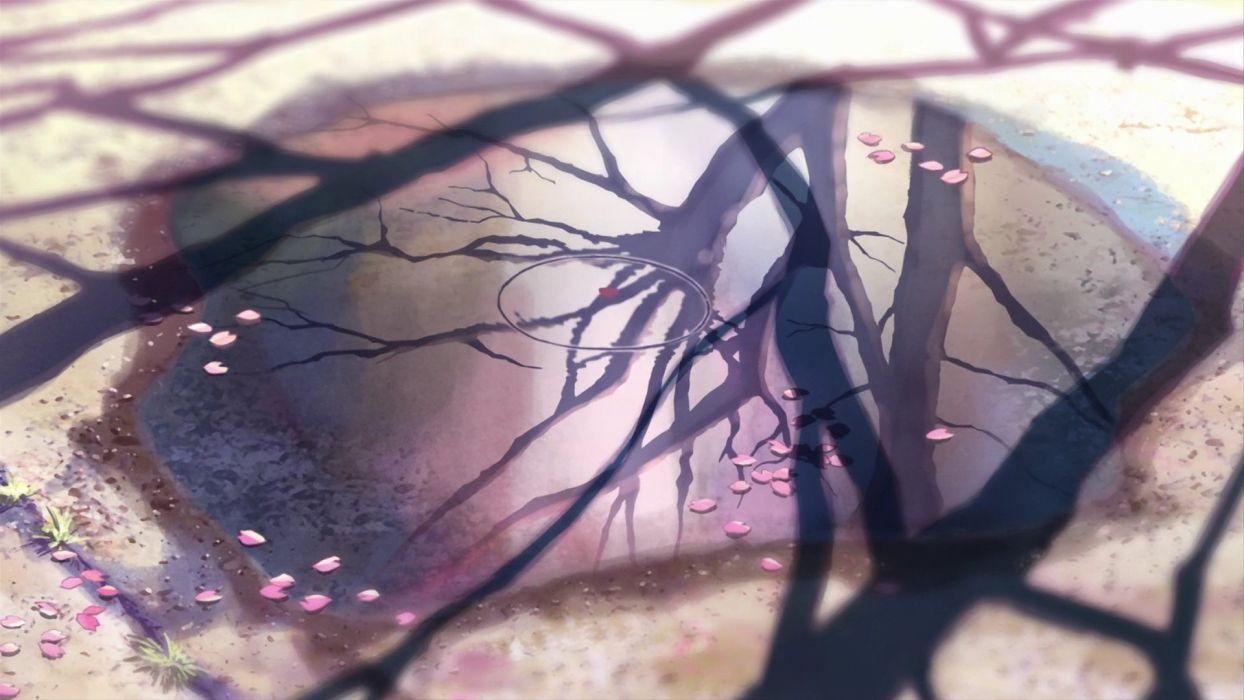 5-santimetrov-v-sekundu-anime tree wallpaper