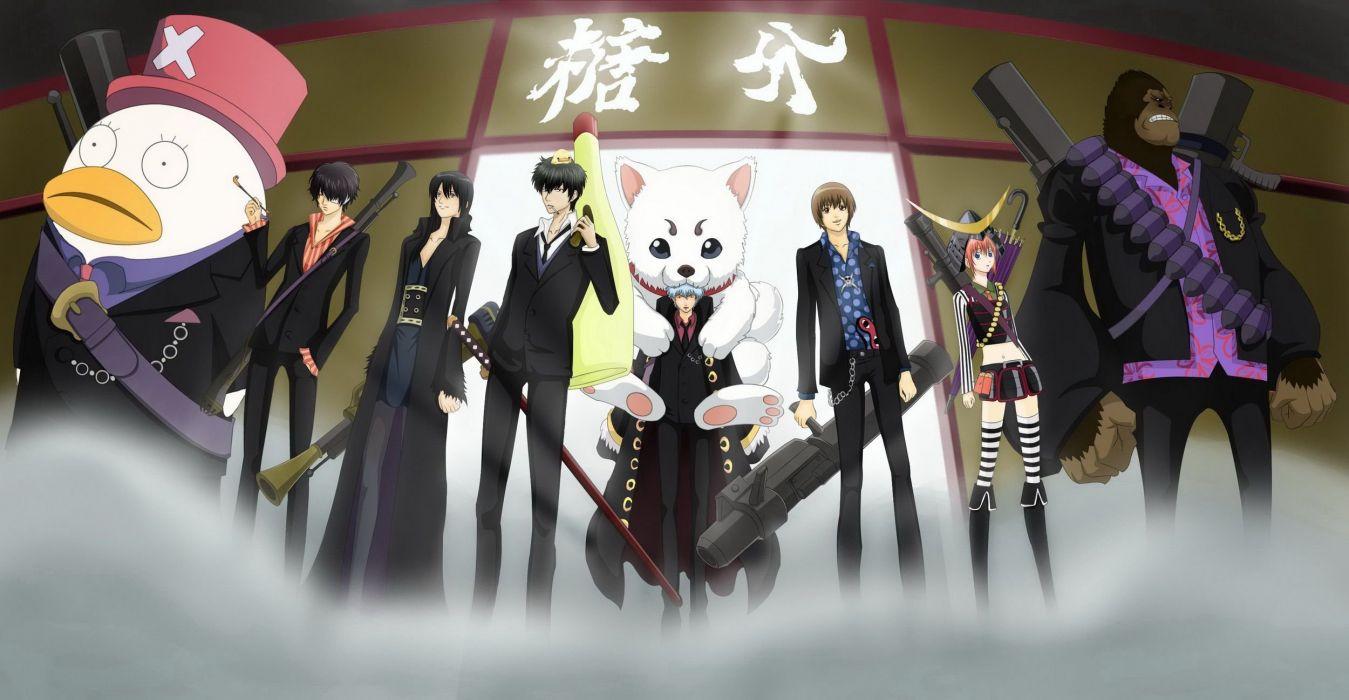 Anime gintama one piece gintoki hijikata wallpaper