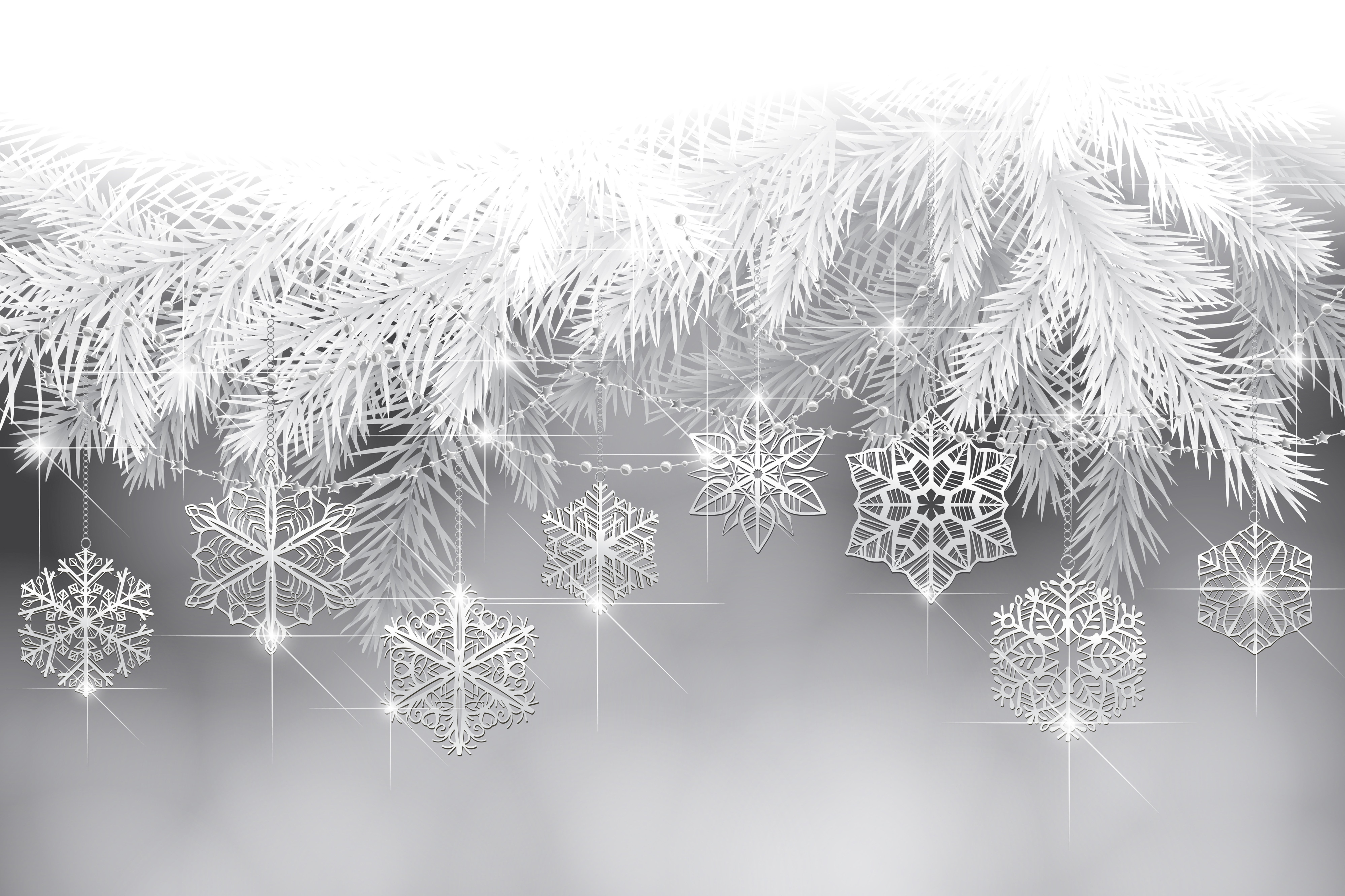 new year holiday snowflakes tree branches wallpaper 7988x5321 569743 wallpaperup