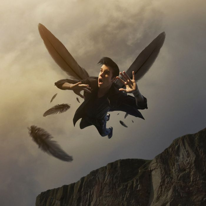 Icarus flying feathers wallpaper