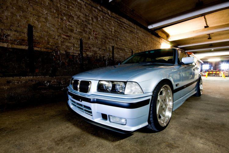 Blue BMW E36 Coupe wallpaper