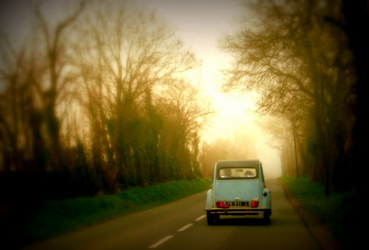 Driving in Normandy wallpaper