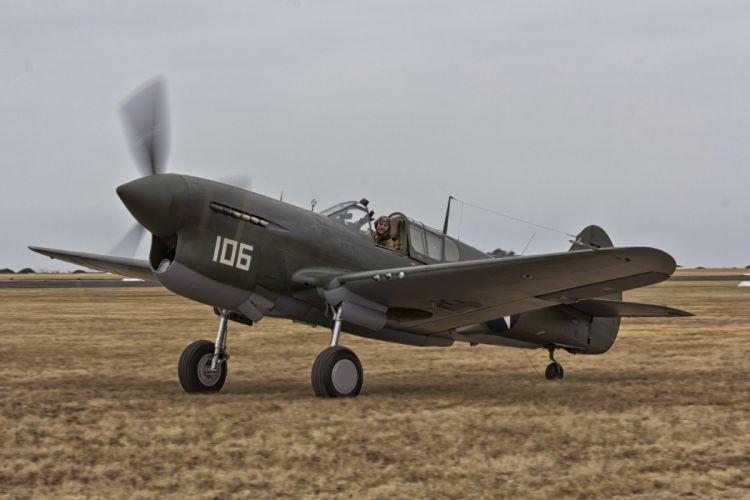 aeroplane aircraft airplanes airshow american Fighter Flight Flying war Curtiss P-40 Warhawk wallpaper