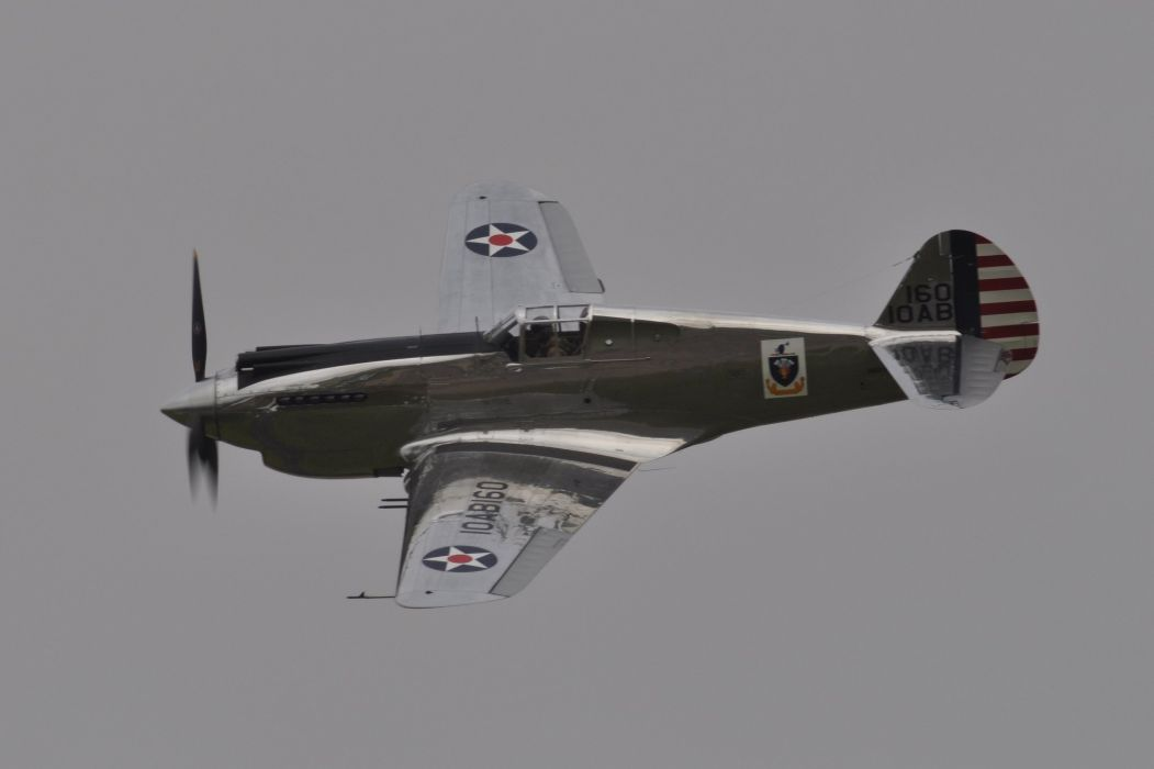 aeroplane aircraft airplanes airshow american Fighter Flight Flying war Curtiss P-40 Warhawk wallpaper