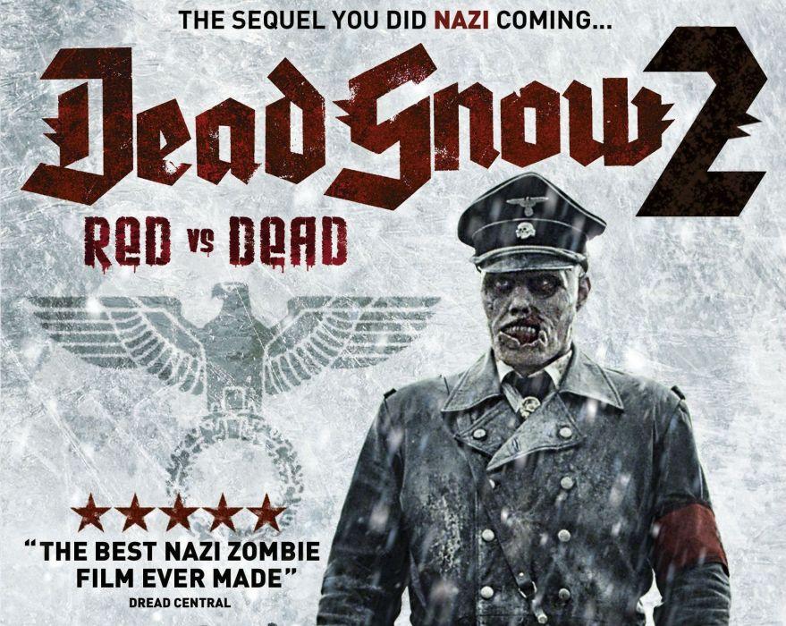 DEAD SNOW horror comedy dark nazi zombie deadsnow blood poster wallpaper