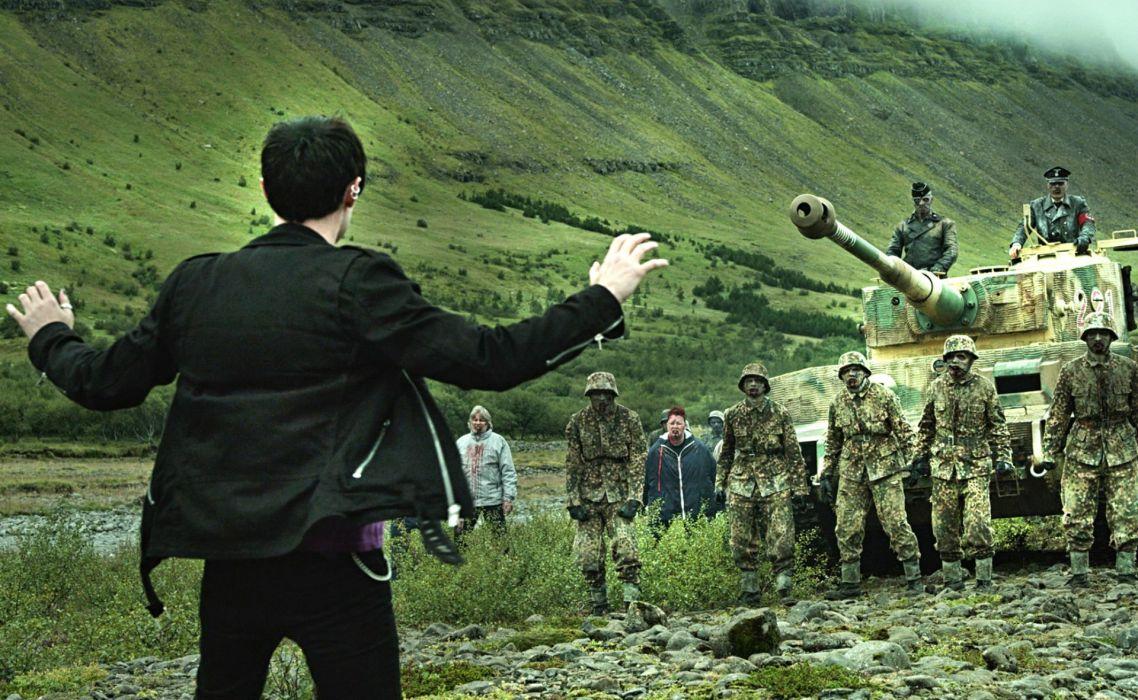 DEAD SNOW horror comedy dark nazi zombie deadsnow military tank wallpaper