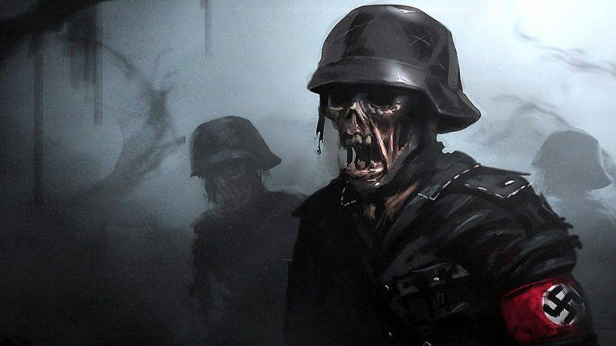 DEAD SNOW horror comedy dark nazi zombie deadsnow blood skull wallpaper